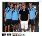 Hiszpańscy piłkarze u fryzjera